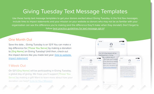 Giving Tuesday Text Message Templates Image